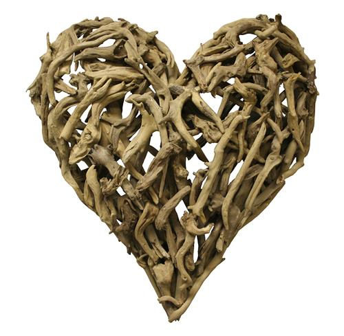 Driftwood Heart Sculpture 16 x 16 | Kathy Kuo Home