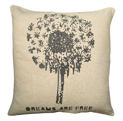 Dreams Are Free Blow Flower Ella Down Pillow - 24x24 | Kathy Kuo Home