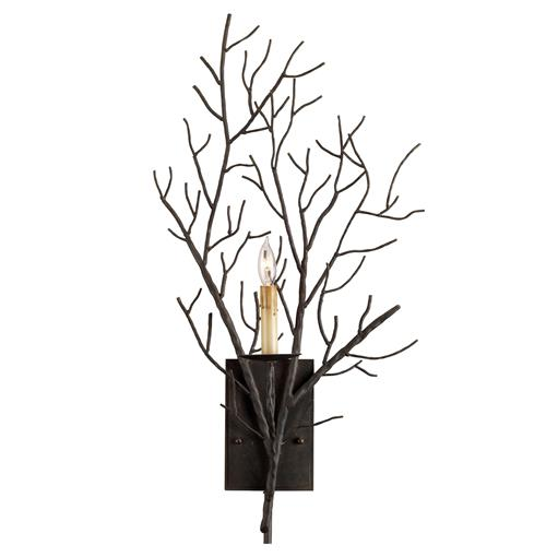 Winterfall Rustic Lodge Tree Branch Organic 1 Light Wall Sconce | Kathy Kuo Home
