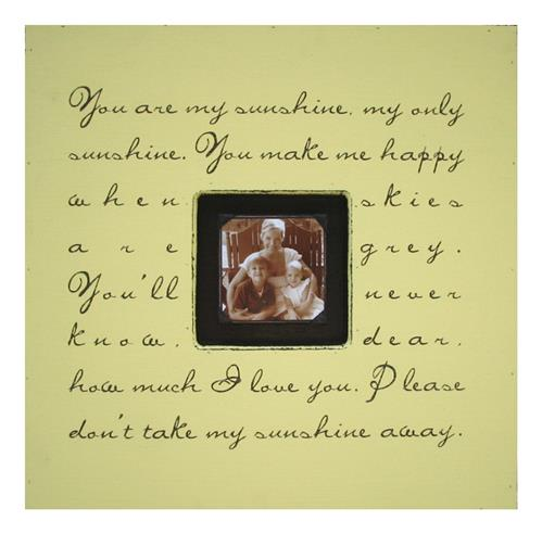 Painted Wood Rustic Photo Box - You Are My Sunshine - Harvest | Kathy Kuo Home