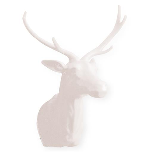 The Hunt Medium White Porcelain Deer Trophy Head | Kathy Kuo Home