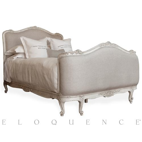 Eloquence Sophia Bed in Antique White - Queen | Kathy Kuo Home