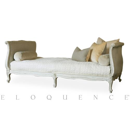 Eloquence® Clignancourt Twin Daybed in Antique White | Kathy Kuo Home