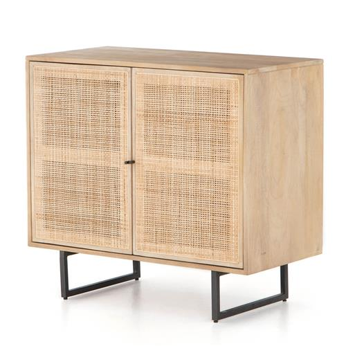 Breanna Modern Classic Natural Cane Mango Wood Cabinet | Kathy Kuo Home