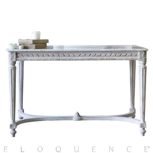 Eloquence Contessa Entry Table in Chipped White | Kathy Kuo Home