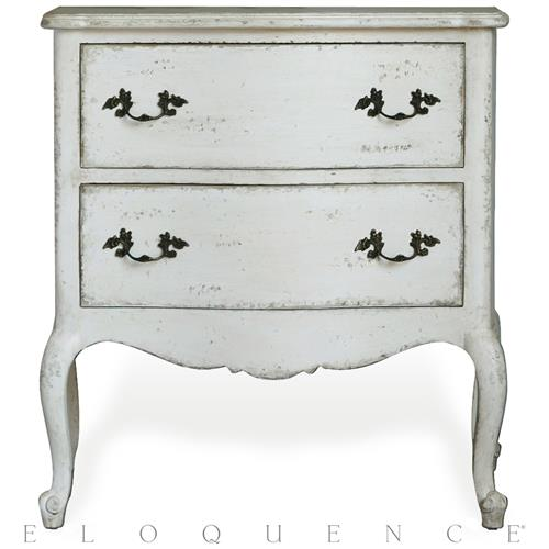 Eloquence Clementine Nightstand in Antique White | Kathy Kuo Home