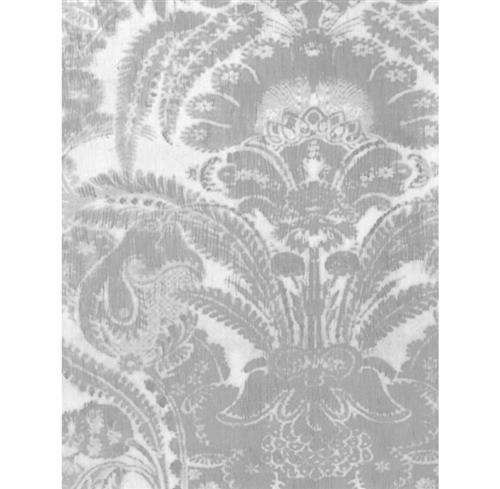 European Soft Damask Wallpaper - Neutral - 2 Rolls | Kathy Kuo Home