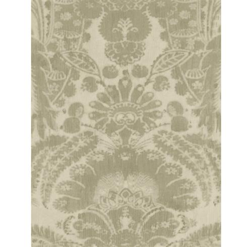 European Soft Damask Wallpaper - Taupe - 2 Rolls | Kathy Kuo Home