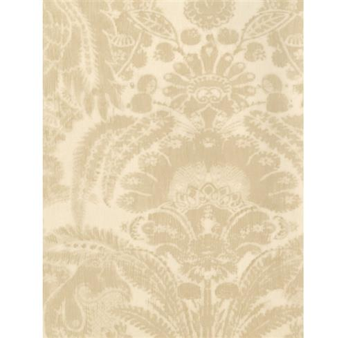 European Soft Damask Wallpaper - Sand - 2 Rolls | Kathy Kuo Home