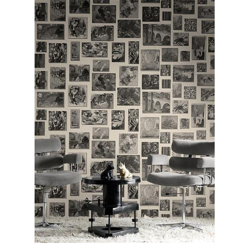 Modern Studio Photograph Gallery Wallpaper - Neutral - 3 Rolls | Kathy Kuo Home