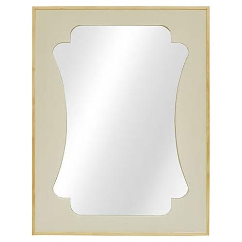 Livia Modern Classic Cream Faux Shagreen Rectangular Wall Mirror | Kathy Kuo Home