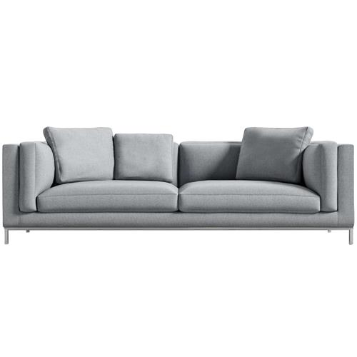 Rove Concepts Nico Modern Classic Porpoise Grey Upholstered Sofa | Kathy Kuo Home