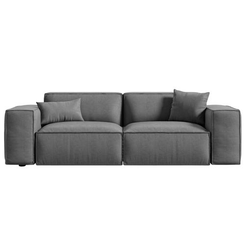 Rove Concepts Porter Modern Classic Fin Grey Upholstered Sofa | Kathy Kuo Home