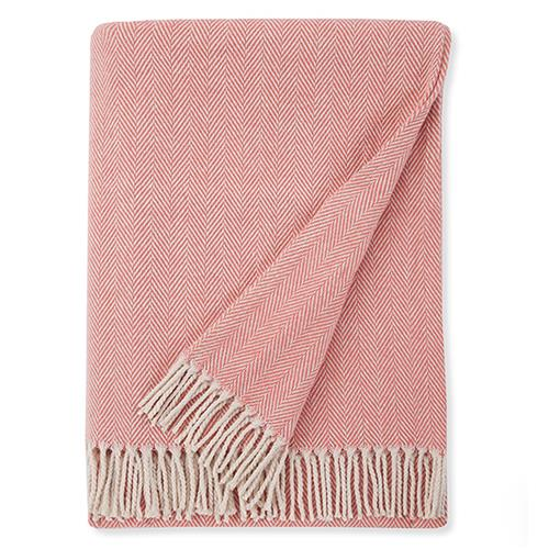 Sferra Celine Cotton Throw - Salmon | Kathy Kuo Home