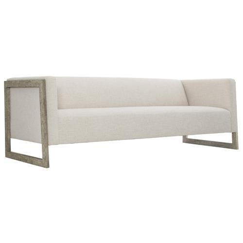 Maxine Modern Classic White Upholstered Wood Sofa | Kathy Kuo Home