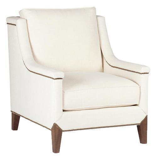 Liam Hollywood Regency Deco Nailhead Arm Chair | Kathy Kuo Home