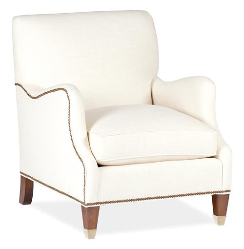 Lincoln English Saddle Arm Brass Nailhead Classic Arm Chair | Kathy Kuo Home