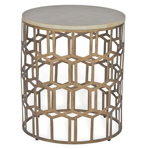 Carmen Hollywood Regency Deco Round Horn End Side Table | Kathy Kuo Home