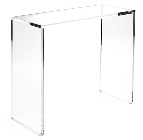 Clery Modern Classic Clear Acrylic Console - 36 Inch | Kathy Kuo Home