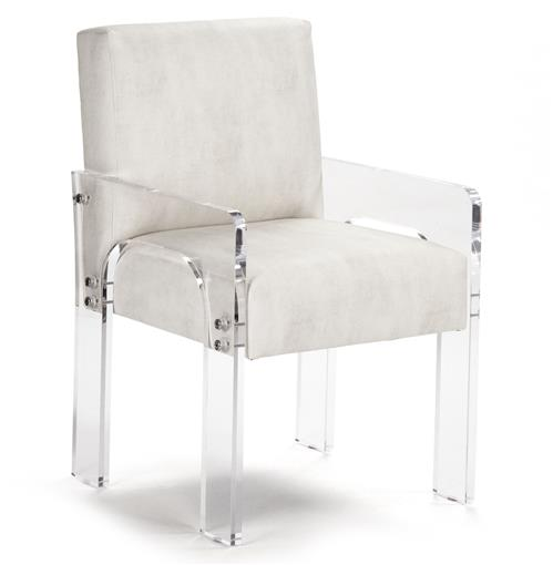 Aniston Modern Art Deco Acrylic Arm Chair | Kathy Kuo Home
