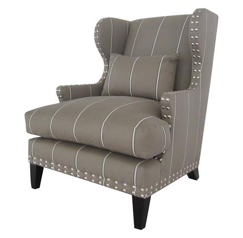 Amundsen British Industrial Studded Wing Back Arm Chair | Kathy Kuo Home