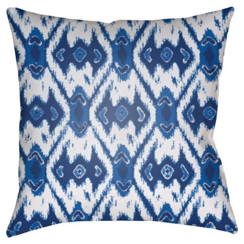 "Gianna Global Bazaar Blue Diamond Patterned Outdoor Pillow - 18"" x 18"" 