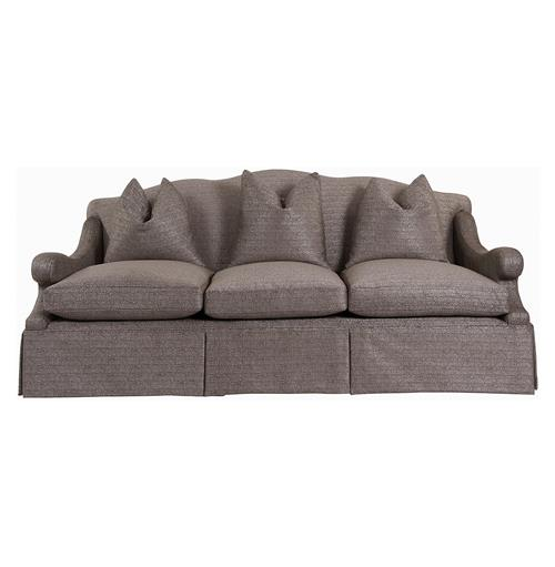 Vannes Modern French Country Skirted Sofa | Kathy Kuo Home