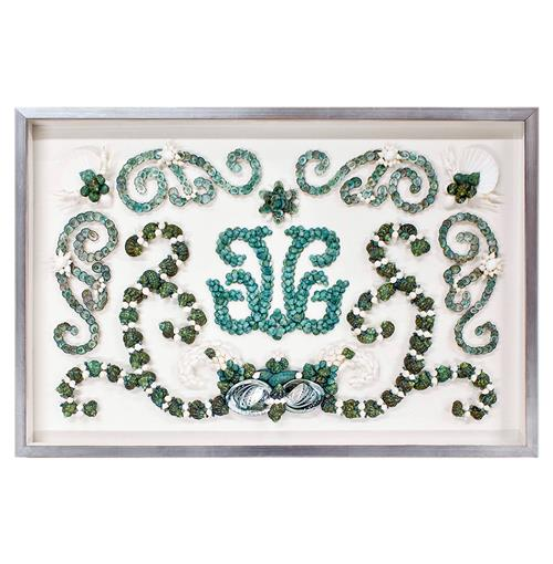 Mallorca Coastal Beach Blue Green Shell Grotto Wall Decor - by Karen Robertson | Kathy Kuo Home