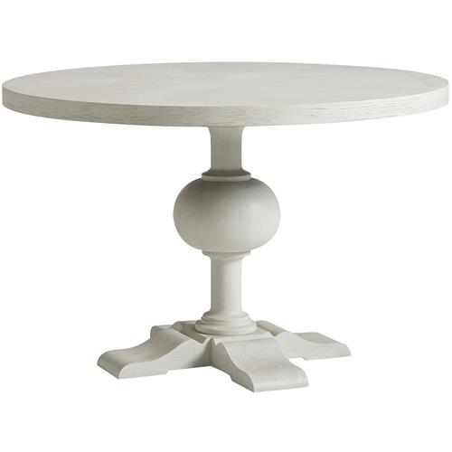 Hanna French Country White Wood Round, French Country Round Kitchen Table