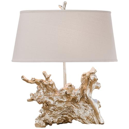 Rehoboth Coastal Beach Silver Table Lamp | Kathy Kuo Home