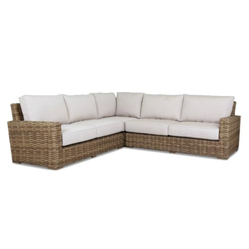 Piece Outdoor Sectional Sofa, Patio Furniture 3 Piece Sectional Sofa Resin Wicker Beige