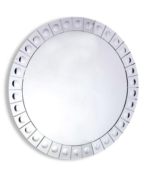 "Hollywood Regency Modern Convex Dot Large Round Mirror 42""D 