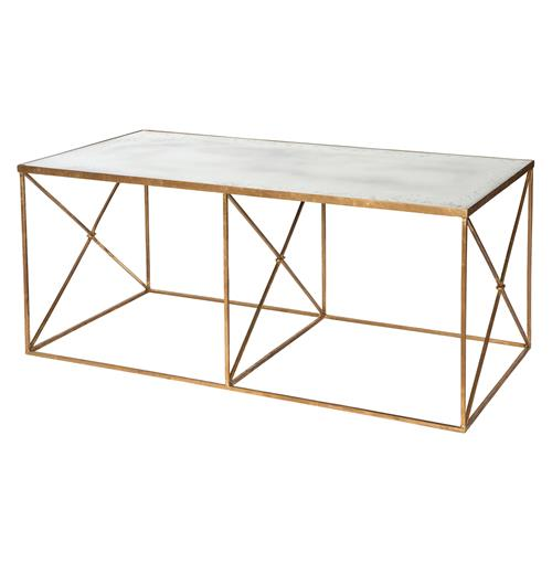Antique Gold Mirrored Coffee Table