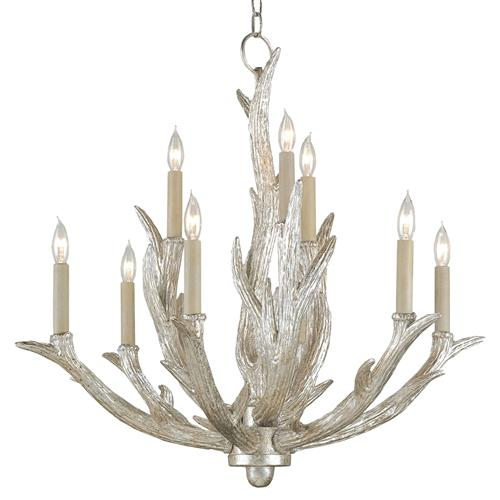 Rittenburg Antique Silver Antler Modern Rustic Lodge 9 Light Chandelier | Kathy Kuo Home
