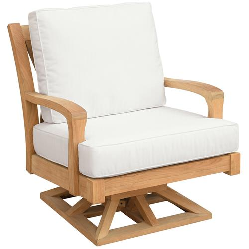 Kingsley Bate Somerset French Country Teak Outdoor Swivel Rocker Chair Kathy Kuo Home