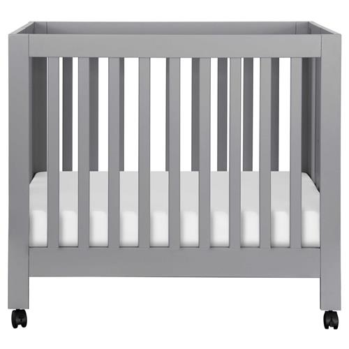 Origami Modern Grey Wood Collapsible Mini Crib | Kathy Kuo Home