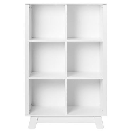 Hudson Modern Classic White Pine Wood Cubby Bookcase | Kathy Kuo Home
