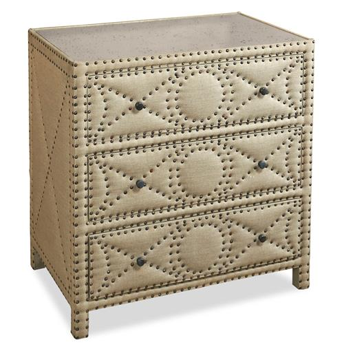 Giacomo Hollywood Regency Tufted 3 Drawer Chest | Kathy Kuo Home