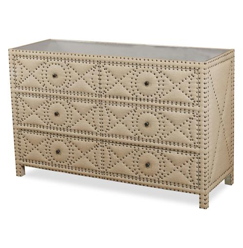 Giacomo Hollywood Regency Tufted 6 Drawer Dresser | Kathy Kuo Home