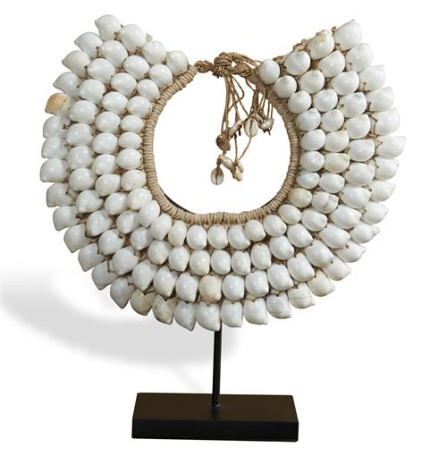 Mokolo Global Bazaar White Shell Tribal Necklace | Kathy Kuo Home