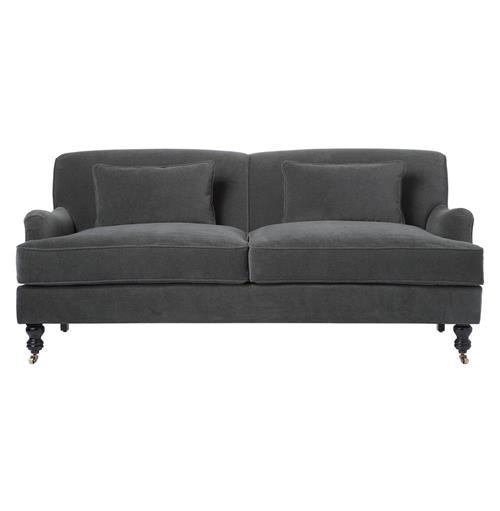 Dark Grey Velvet Sofa: Cisco Brothers Beaumont Classic English Rolled Arm Dark