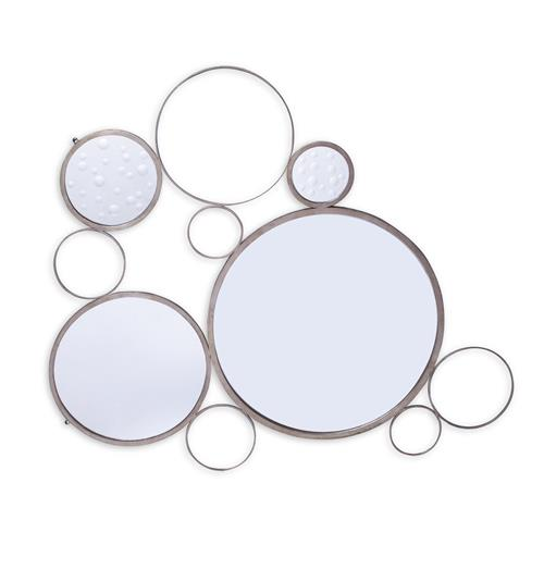 Brigit Modern Silver Leaf Bubble Mirror | Kathy Kuo Home