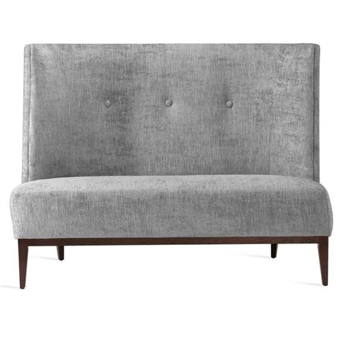 Interlude Chloe Mid Century Feather Chenille Upholstered High Back Dining Bench | Kathy Kuo Home