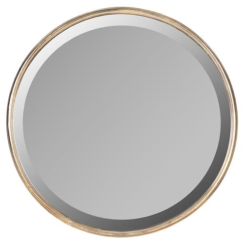 libby hollywood regency thin frame antique bronze round mirror 18 inch. Black Bedroom Furniture Sets. Home Design Ideas