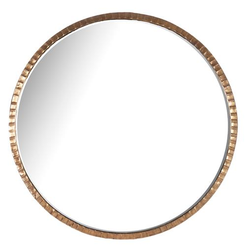 Yorkville Hollywood Regency Large Thin Round Wall Mirror | Kathy Kuo Home