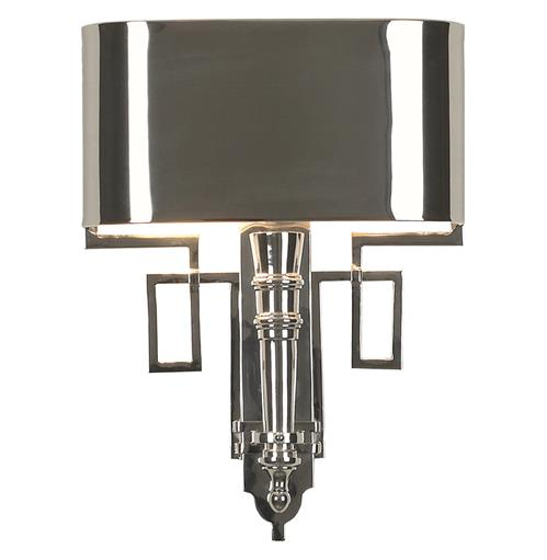 Pasadena Hollywood Regency Polished Nickel Deco Style Sconce | Kathy Kuo Home