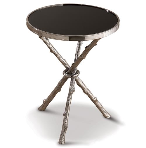 Bijou Global Bazaar Black Silver Twig Branch Accent Side End Table | Kathy Kuo Home