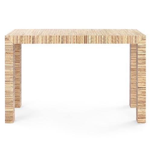 Bungalow 5 Parsons Modern Classic Brown Papyrus Wood Rectangular Console Table | Kathy Kuo Home