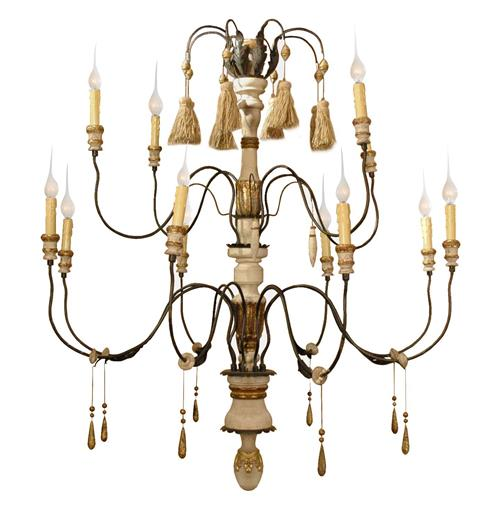 Claire French Country Flea Market 11 Light Grand Chandelier | Kathy Kuo Home