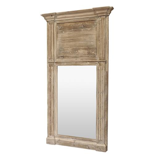 Remy French Country Cottage Door Trumeau Large Hall Mirror | Kathy Kuo Home